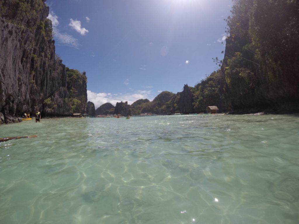 Your boat will drop you into this wonderful turquoise water in front of the small lagoon...