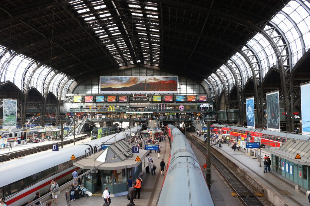 The central station of Hamburg