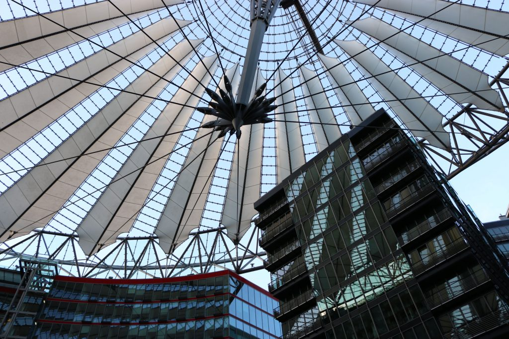 The Sony Center features this modern looking roof which can actually be seen all over the city. Here you can find a lot of nice restaurants and big cinemas!