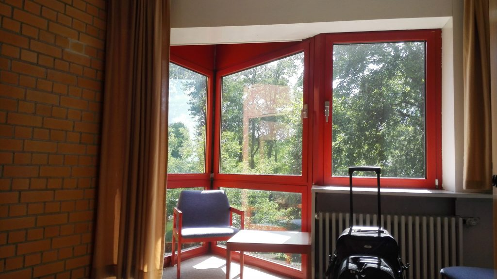 Our room in the youth hostel was very close to nature! We could actually see the Wannsee from there!