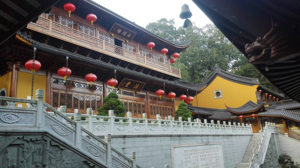 The upper Tianzhu temple is in the middle of nature