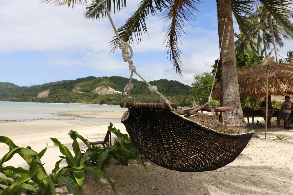 "The ""Las Cabanas Beach Resort"" offers the best view over the area, cozy hammocks and great mango shakes!"