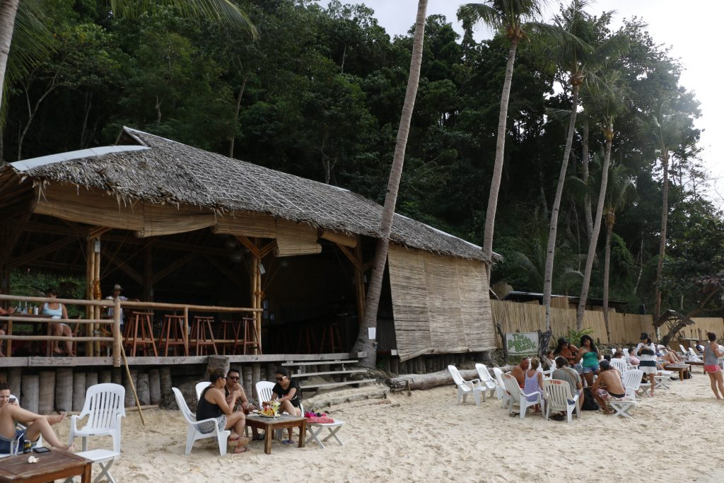 "At the ""Beach Shack"" you can enjoy a nice lunch right by the water"