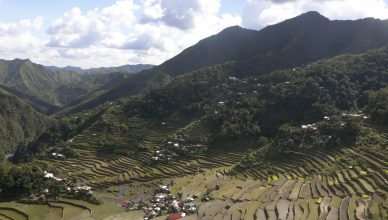 After hiking around the Rice terraces you can reach the second viewpoint where you can admire all the terraces below