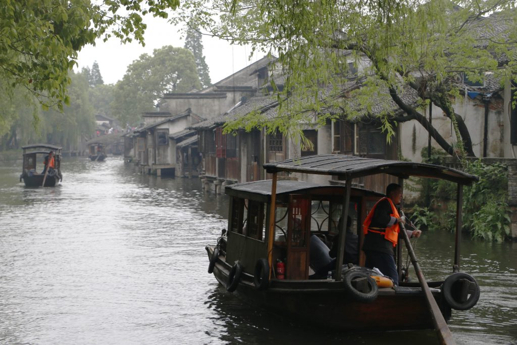 "The ""gondolas"" in Wuzhen"