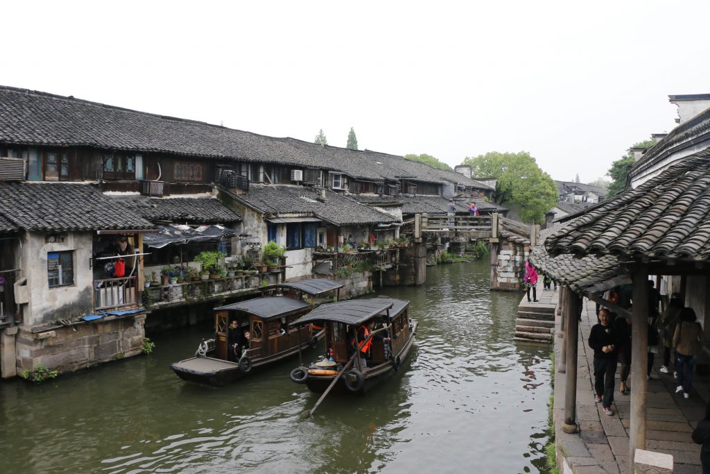 A wonderful scenery with old houses, bridges and the channel