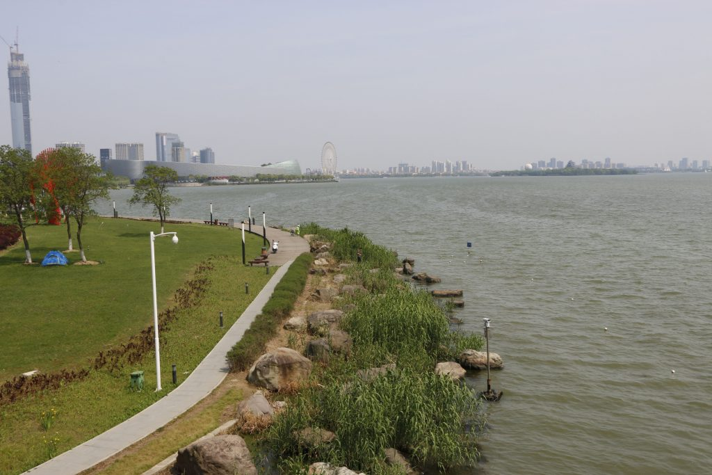 I had a walk around the northern shore of the lake from Dongfangzhimen to the Culture exhibition centre with a stop at the Meister Bräu beergarden at the Culture and arts center.