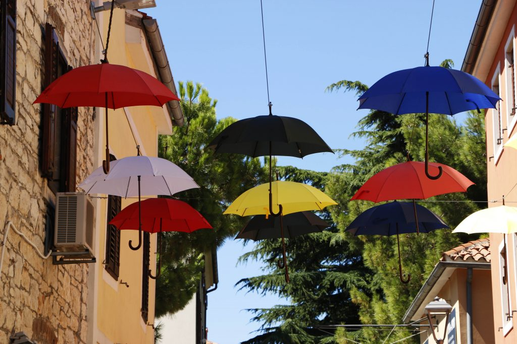 Luckily, you usually don't really need these umbrellas here. Either way, it does look nice and you can find them in many places around Novigrad.