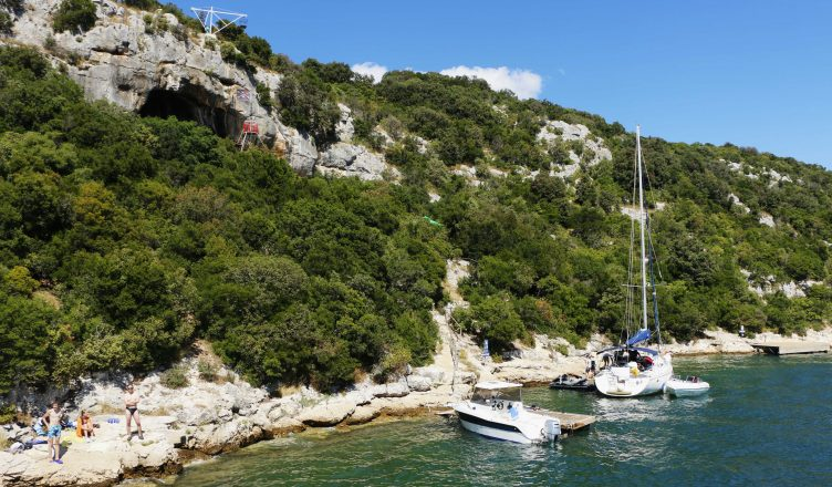 The small port in the Lim Fjord, in front of the pirate cave and with freat places for swimming