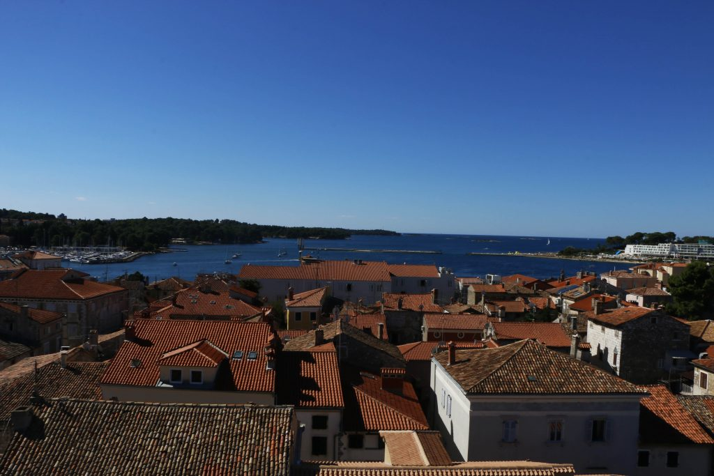 From the top of the tower, you can have a good panorama of the surrounding town.