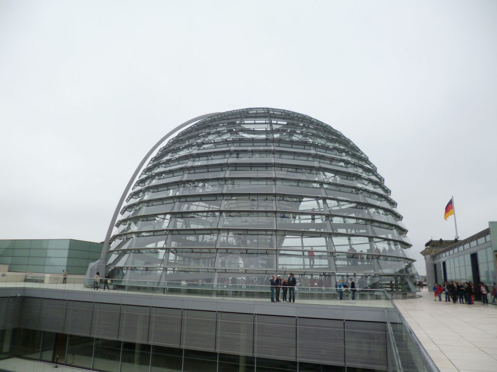 I recommend going to the rooftop: you can access the glass dome and have a nice view over the surrounding area!